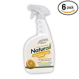 Naturall Multi-Purpose Cleaner, Orange, 32 ounces Bottles (Pack of 6)