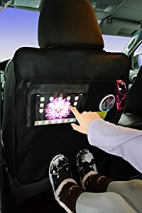 Seat Back Protector (2 Pack) Car Kick Mats Protectors / Cover Clear Pocket Fits iPad Mini or Tablet