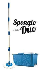 Balai serpillère 360à° - 2 bacs séparés - Turbo Mop Spongio Nouvelle Génération