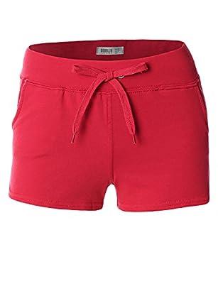 Doublju Women Casual Banding Cotton Short pants