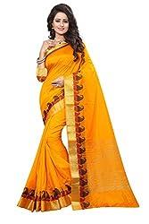 Odhni Women's Bollywood Mustard Banarsi Silk Jacquard Saree