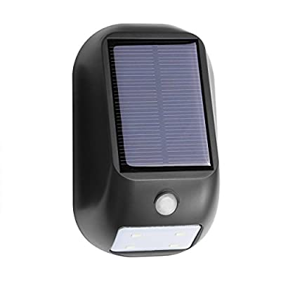 LE Solar Lights, LED Motion Sensor Light, Waterproof, Solar or Batteries Powered, Wireless Exterior Security Lighting, 160lm Wall Lights, Outdoor Lighting for Patio, Yard, Garden, Home, Driveway