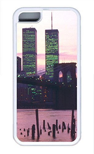 Brian114 iPhone 5C Case - City New York 16 Soft Rubber White iPhone 5C Cover, iPhone 5C Cases, Cute iPhone 5c Case