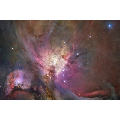 Hubble'S Sharpest View Of The Orion Nebula Space Photo Art Poster Print - 24X36 Custom Fit With Richandframous Black 36 Inch Poster Hangers