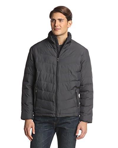 Sean John Men's Textured Pindot Puffer Jacket