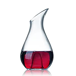 Clear Thick Glass Slanted Wine Decanter With
