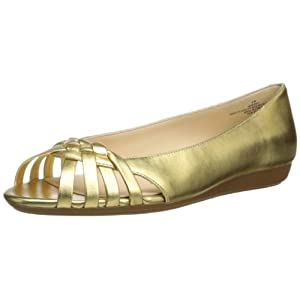 Nine West Women's Romy Ballet Flat,Gold,8.5 M US