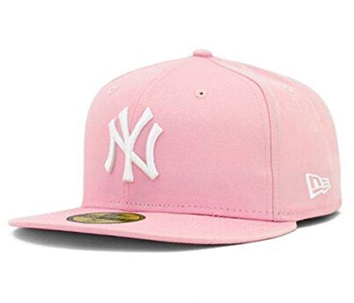 6088aefd2fc Tx Adjustable Unisex New York Yankees Cap Snapback Sport Flat Brim Hip-hop  Hat (Pink)