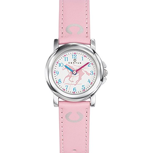 Certus - 647590 Synthetic Strap Unisex Watch - Analogue Quartz - White Dial - Pink