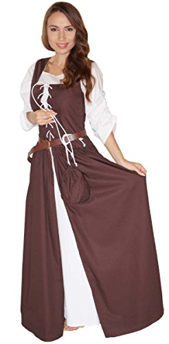 maylynn-14261-celia-costume-medievale-da-domestica-100-cotone-marrone-40-42