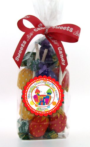 Bouncy Castle Party Themed Children's Party Bag Filled with Lollipop Sweets