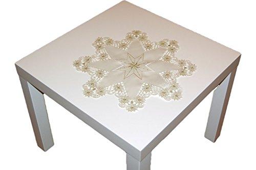 h bsche tischdecke stern 40 cm weihnachten beige gold. Black Bedroom Furniture Sets. Home Design Ideas