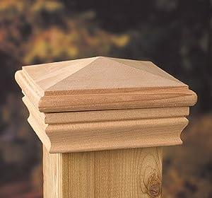 6x6 Newport High Pyramid Post Cap Decking Caps Amazon Com
