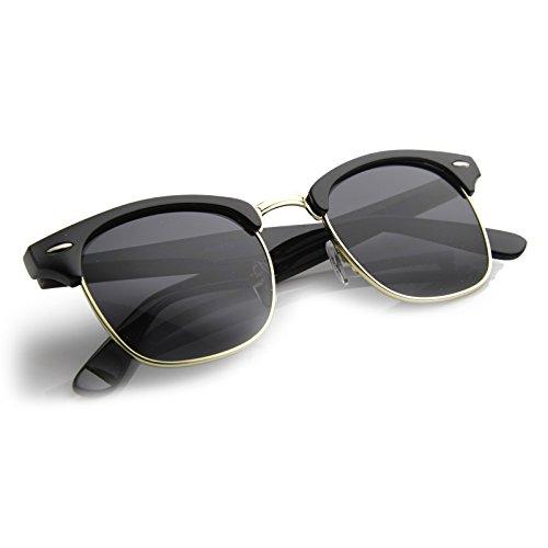 e65d4e5e178 Cartier Half Rim Sunglasses Black Gold