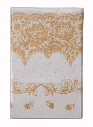 Bridal Shower Decorations Tablecloths Disposable Paper Table Covers 5Ft X 5 Ft Square Porcelain