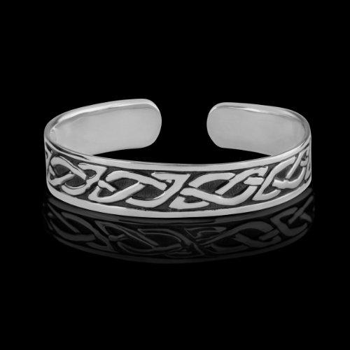 Celtic Unisex Sterling Silver Bangle