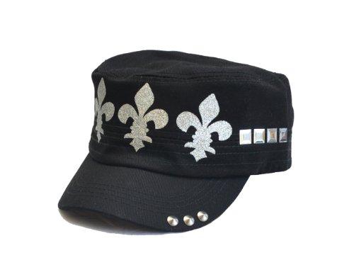 Silver Saints Fleur De Lis Studded Hat