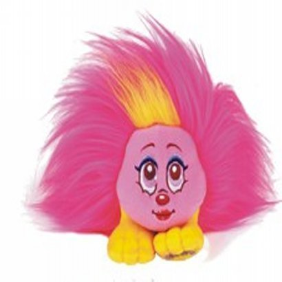"Shnooks Plush Friend Toy, ""Fershnizzle"" Pink & Yellow, with Hair Accessories"