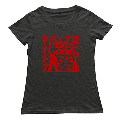 DETED Funny Short Sleeve T-shirt - Ash Vs Evil Dead For Women's SizeXL Black