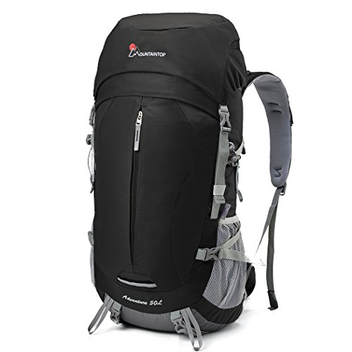 878c8b5b4d Mountaintop 50L Internal Frame Backpack for Outdoor Hiking Travel Climbing  Camping Mountaineering (Black) Price in India