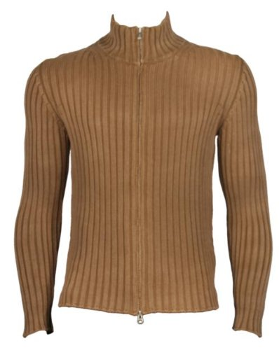 C P Company Full two way zip, unique ribbed effect - Brown