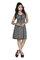 Sadhana Impex Rayon Cotton Dress,Multi-Coloured(l)