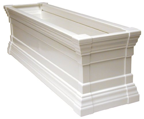 Buy Novelty 27242 24-Inch Windsor Flower Box White with Brackets