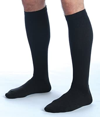 Ames Walker 120 Coolmax Knee Hi Sock 20-30mmHg-Sm-Wh