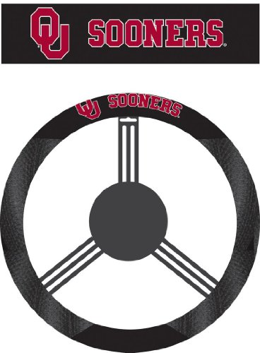 NCAA Oklahoma Sooners Poly-Suede Steering Wheel Cover (Steering Wheel Cover Nylon compare prices)