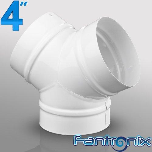Fantronix - Raccordo a Y, 100 mm, in plastica, sezione tonda, per sistemi di ventilazione domestici, in