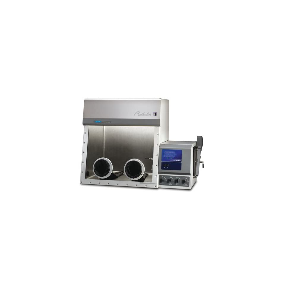 Labconco Protector 5080131 Stainless Steel Controlled Atmosphere Glove Box with Auto Pressure Control and British (UK) Power Coprd and Plug, International, 208 230 Volts, 50/60 Hz, 63.5 W x 34.4 D x 45.7 H
