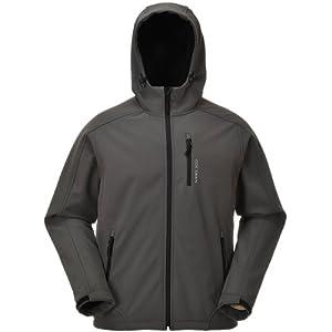 COX SWAIN Herren 3-Lagen Hi-TEC Softshell Jacke Torro - 10.000mm Wassersäule - 2.000mm atmungsaktiv, Farbe: Grey/Black Zipper, Größe: S