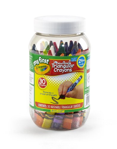 Crayola My First Crayola Triangular Crayons In Storage Container 30Ct front-1065042