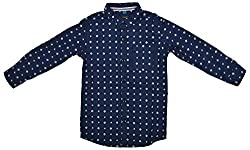 Zedd Boys' Cotton Shirt (E-C Zks1015B_20, Blue, 20)