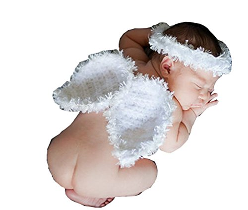 CX-Queen Baby Photography Prop Angel wings Halo Baby Clothes Set Costume