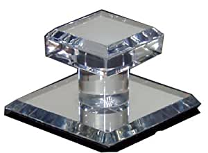 "Clear Acrylic Stick-On Mirror Knob - 1-3/4"" Square"