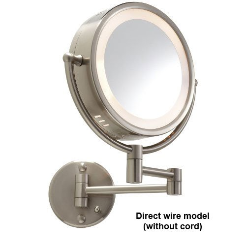 wall mounted makeup mirror vanity lighted cosmetic magnifying glass. Black Bedroom Furniture Sets. Home Design Ideas