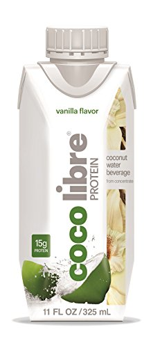 CoCo Libre Protein Coconut Water with Natural Vanilla, 11 Ounce (Pack of 12) (Protein Water Drinks compare prices)