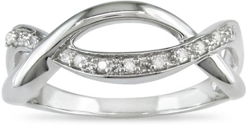 Sterling Silver 1/10ct TDW Diamond Ring (J-K,I3)