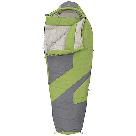 Kelty Light Year XP 20 Synthetic Sleeping Bag, Regular, Dark Citron