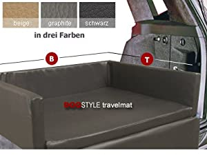 dogstyle travelmat kofferraum hundebett f rs auto aus kunstleder gr e 100 x 80 cm beige. Black Bedroom Furniture Sets. Home Design Ideas