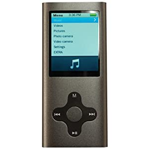 Eclipse MTE180G2G 4GB MP3 Music and Video Player (Silver)