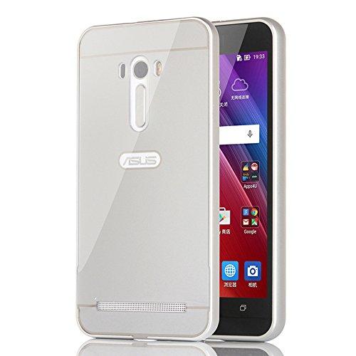 ASUS ZenFone Selfie ケース Moonmini®(ムーンミニ)ASUS ZenFone Selfie ZD551KL ハイブリッドケース アルミ 薄型 軽量 メタルフレームバンパーケース+ハードバックカバー 保護シールド 滑り止め 【並行輸入品】