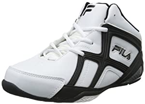 Fila Revenge 2 Basketball Sneaker (Little Kid/Big Kid),White/Black/Metallic Silver,5.5 M US Big Kid