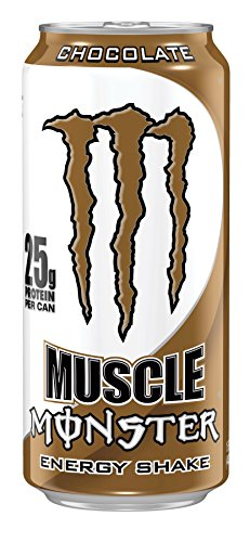 Muscle Monster, Chocolate, 15 Ounce (Pack of 12) (Protein And Energy compare prices)
