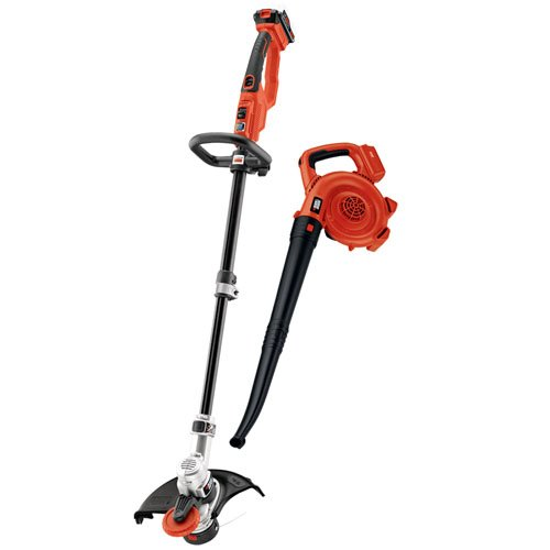 Black & Decker LCC420 String Trimmer and Sweeper Lithium Ion Combo Kit, 20-volt