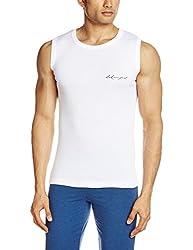 Lakomfort Men's Cotton Vest (Allen _Large_white)