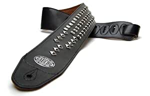 gaucho guitar strap black 39 pyramid 39 strap up to 1 3m for electric acoustic. Black Bedroom Furniture Sets. Home Design Ideas