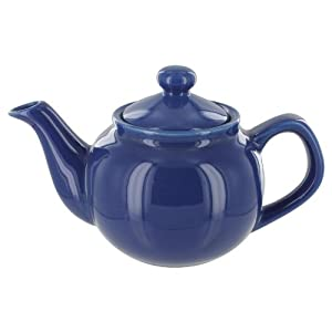 English Tea Store 2 Cup Teapot Blue Gloss Finish by English Tea Store