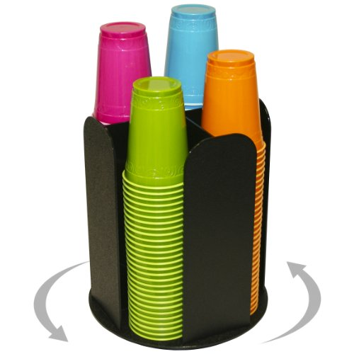 4 Columns for Cup Dispensing and Lid Holder That Spins. Holds Upto 4 1/4